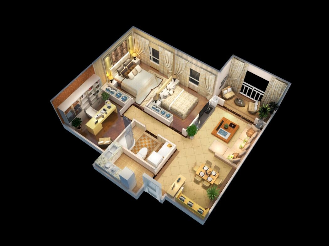 Professional company provides client with 3d floor plans for Turn floor plan into 3d model