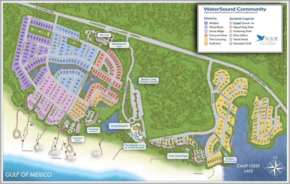 Watersound Community Map