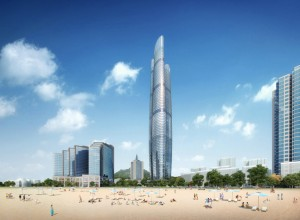Commercial perspective renderings high-rise building in Dubai