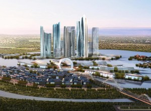 Master planning renderings- global financial center