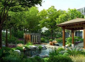Landscaping renderings- industrial park