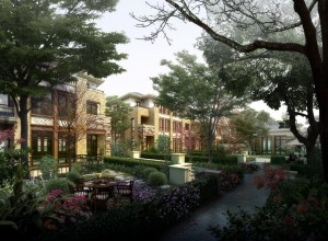 Landscaping renderings-office park