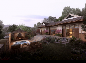 Landscaping renderings- private mansion