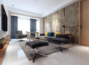 Interior rendering - living room